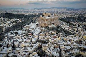 Pohľad na Akropolu.
