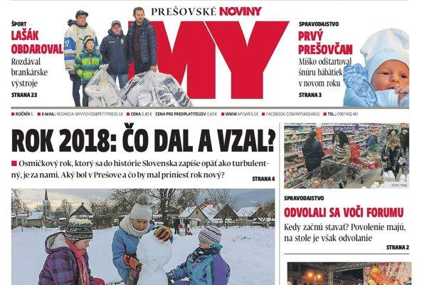 Aktuálne číslo Prešovských novín v stánkoch do 14. januára.
