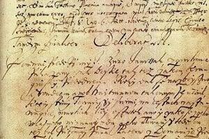 Autentický dokument z procesu, kde znela aj dobová slovenčina