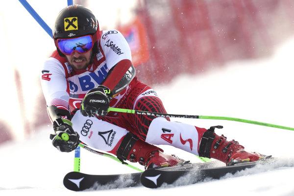 Marcel Hirscher počas pretekov Svetového pohára v Adelbodene.