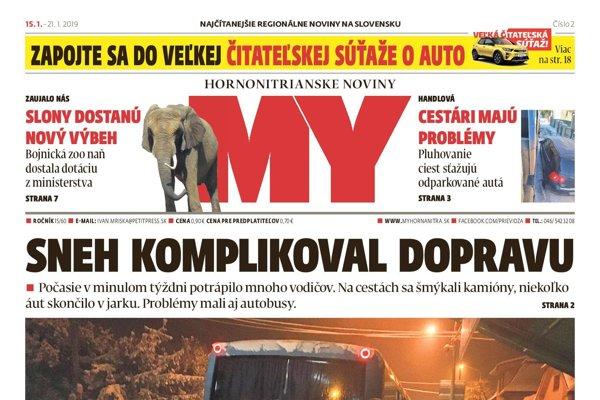 Nové číslo MY Hornonitrianskych novín prináša tieto témy:
