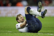 Harry Kane po strete s Philom Jonesom.