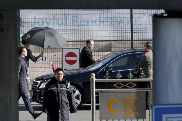 Členovia severokórejskej delegácie.