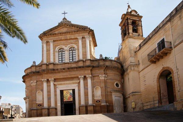 Kostol v mestečku Sambuca di Sicilia, ktoré má približne šesťtisíc obyvateľov.