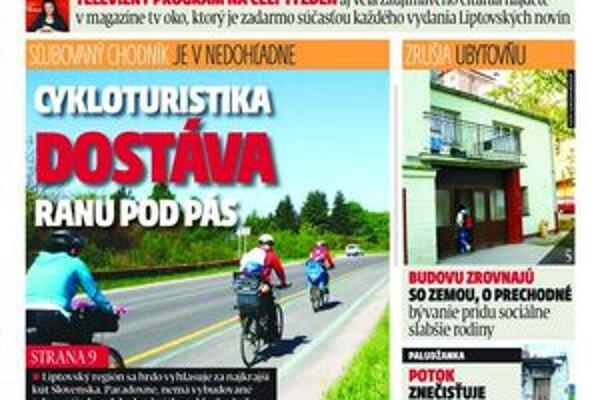 V najnovšom vydaní MY Liptovské noviny nájde regionálne spravodajstvo, publicistiku aj šport.