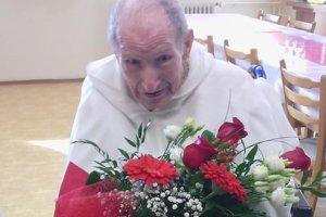Najstarší slovenský rehoľník Akvinas Juraj Gabura oslávil 104 rokov.