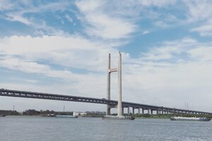 Minpu Bridge - jeden z mostov cez Huangpu spájajúcich Pudong a Puxi