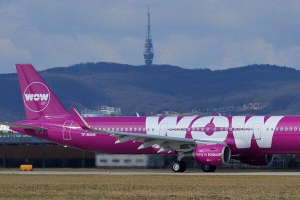 Lietadlo spoločnosti Wow Air.