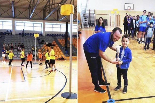 Hala SPU patrila v stredu školákom, ktorí si zahrali korfbal, rozdelení do štyroch vekových kategórií.