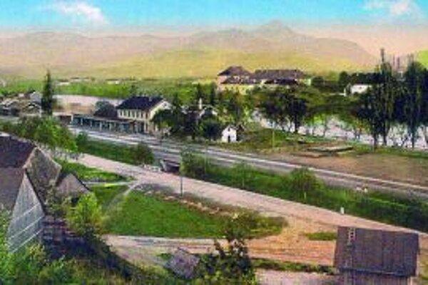 Takto vyzerala železničná stanica v Ružomberku.