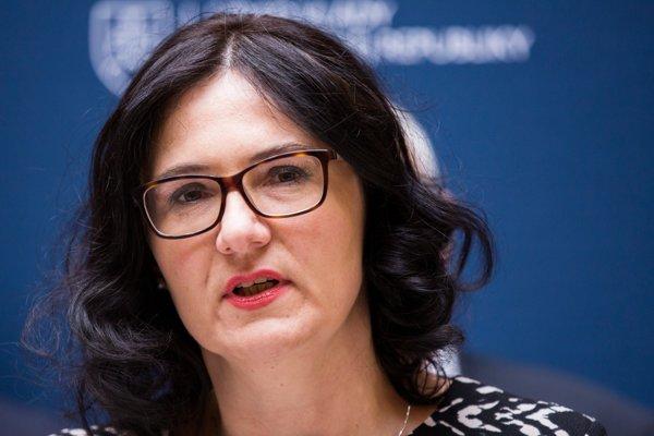 Ministerka školstva, vedy, výskumu a športu Martina Lubyová.