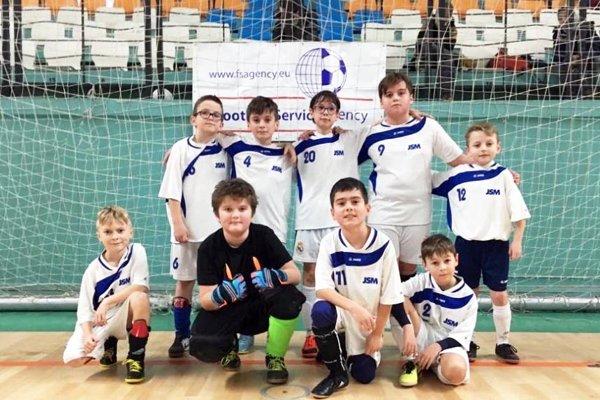 Turnaj prípraviek U11 sa hrá pod záštitou agentúry Football Service Agency, ktorá zastupuje aj Miroslava Stocha. Na snímke nádeje z Lapáša.