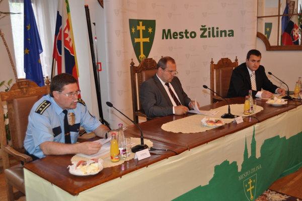 Milan Šamaj a Igor Choma na žilinskej radnici.