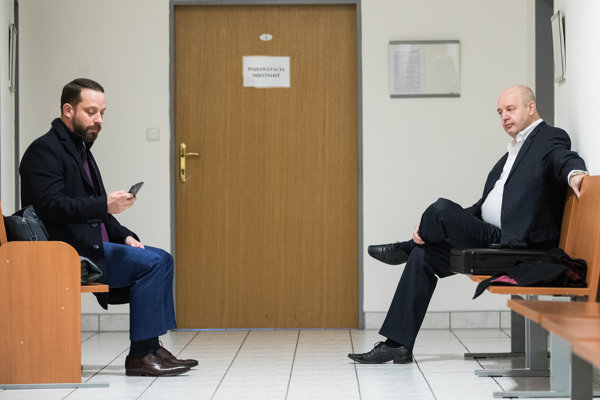 Pavol Rusko (vpravo) a jeho advokát Marek Para.