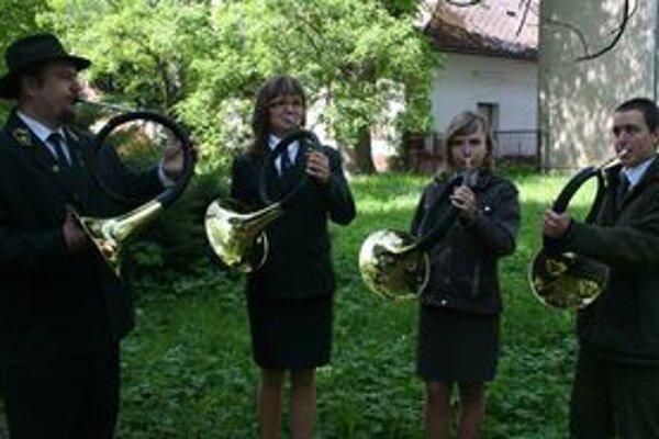 Trubači z lesníckej školy v Liptovskom Hrádku Novum Castrum kvintet.