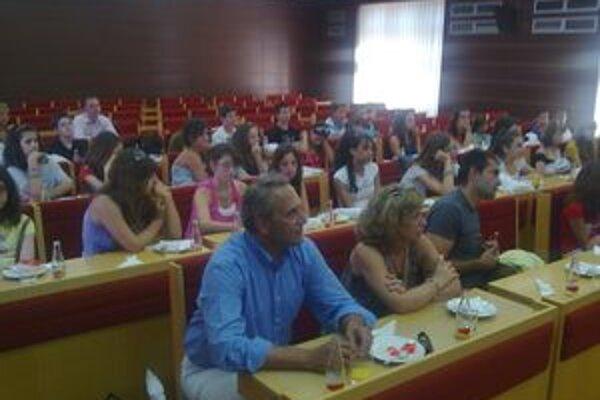 Mladí Gréci na radnici diskutovali s primátorom Jánom Blcháčom.