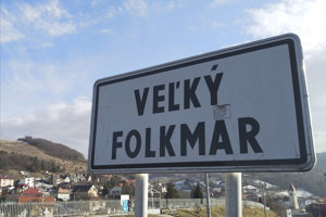 Vstup do obce Veľký Folkmar v okrese Gelnica.
