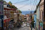 Ulice miest v Čile boli plné farieb