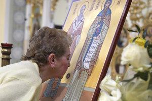 Relikvie sv. Konštantína-Cyrila sú vystavené k verejnej úcte.