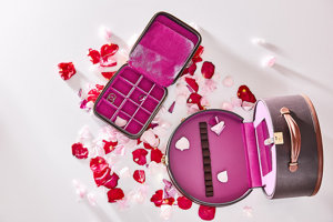 Šperkovnica alebo kozmetický kufrík.