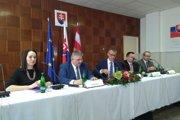 Tlačová konferencia po zasadanutí vlády v Jesenskom.