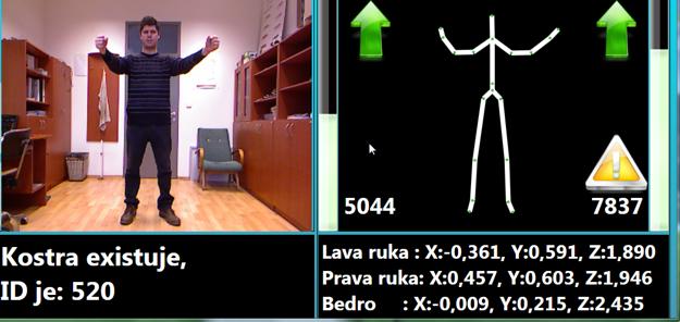 Robot rozozná ľudskú kostru, orientuje sa aj podľa kĺbov. To sa dá využiť tak, aby rozoznával pokyny na základe gest.