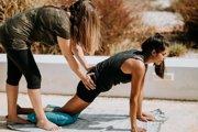 Cvičenie jogy.