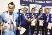 Vľavo Ján Šuba z AC Stavbár. Vpravo štafeta ŠK ŠOG na 4x400 m - zľava Lackovičová, Ledecká, Kusyová a Švecová.