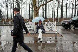 Trinásťročná Alexandria Villasenor nešla do školy, aby mohla štrajkovať pred budovou OSN. Na transparente má napísané