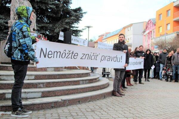 Z vlaňajšieho zhromaždenia za slušné Slovensko v Námestove.