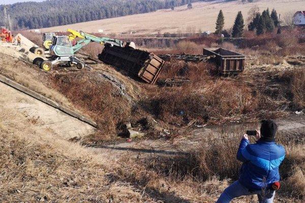 Takto to vyzeralo pri trati po nehode.