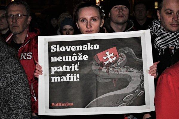 Protesty Liptákov v marci 2018.