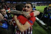Hráči Atlética Madrid oslavujú gól v zápase proti Juventusu Turín.