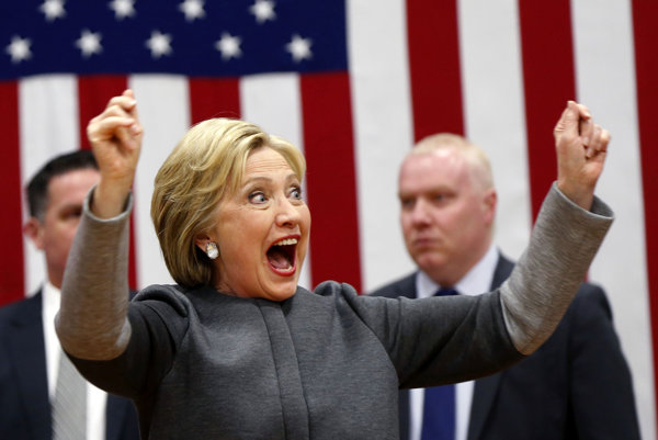 Favoritka demokratov Hillary Clintonová.