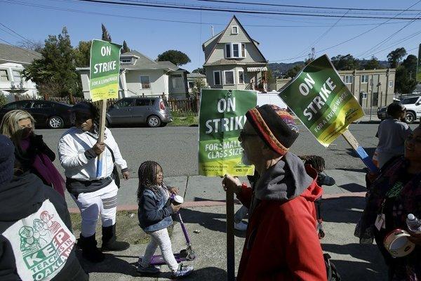 Štrajk učiteľov v Oaklande.