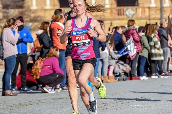 Lucia Vlčáková bežala prvý maratón v španielskom meste Sevilla.