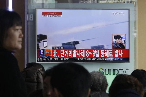 Severná Kórea bežne uskutočňuje skúšky rakiet a iných striel.
