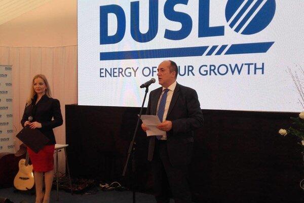 Generálny riaditeľ Dusla Petr Bláha pri slávnostnom otvorení.