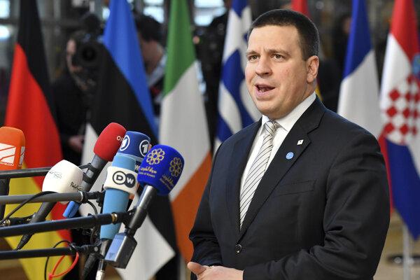 Šéf Estónskej strany stredu a premiér Juri Ratas.