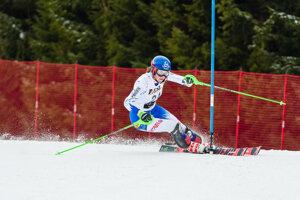 Petra Vlhová počas slalomu na Európskom pohári v Jasnej 2019.