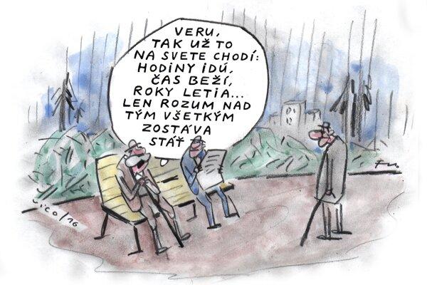 Rozum zostáva stáť (kreslí Vico)