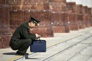 Momentka počas zasadnutia čínskeho parlamentu.