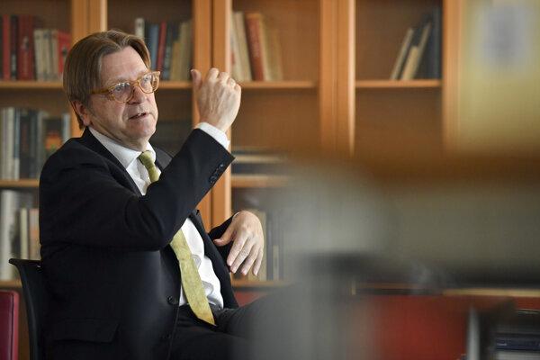 Hlavný predstaviteľ Európskeho parlamentu (EP) pre brexit Guy Verhofstadt.