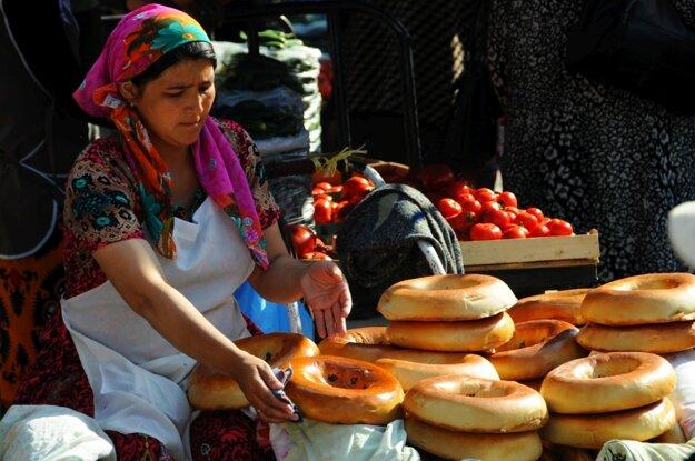 Chlieb na trhovisku Corsu