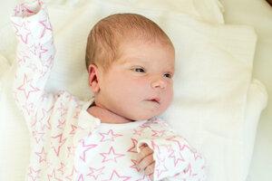 Nina Ježíková (2820 g, 48 cm) sa narodila 26. februára Marcele a Matúšovi zo Svinnej.