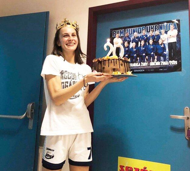Tereza Sailerová oslavovala v deň zápasu 20 rokov.