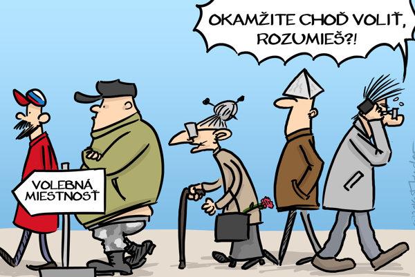 Na voľby reaguje aj karikaturista Mandor.