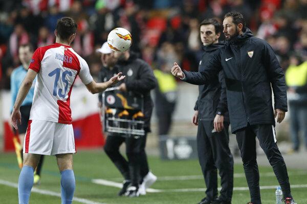 Pablo Machin počas svojho posledného zápasu v pozícii trénera FC Sevilla.