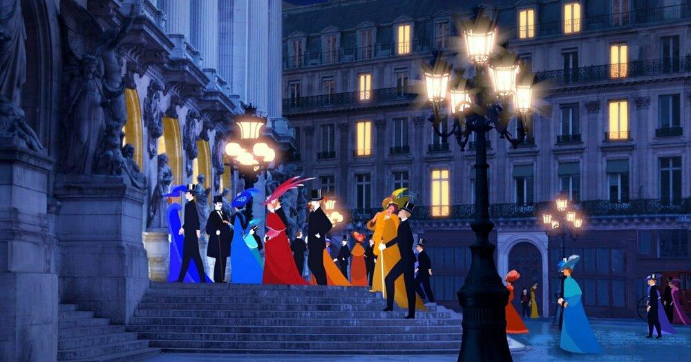Záber z francúzskeho filmu Dilili v Paríži.