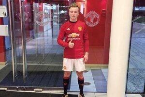 V drese slávneho anglického veľkoklubu Manchester United.